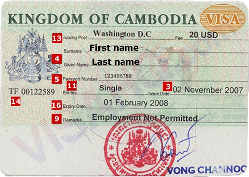 Visa Processing in Phnom Penh