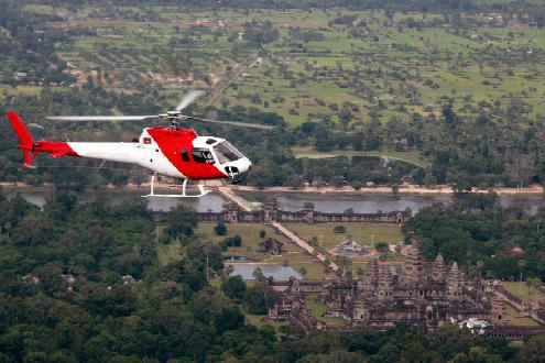 Helicopter Tour of Siem Reap - Available from the Mad Monkey Hostel