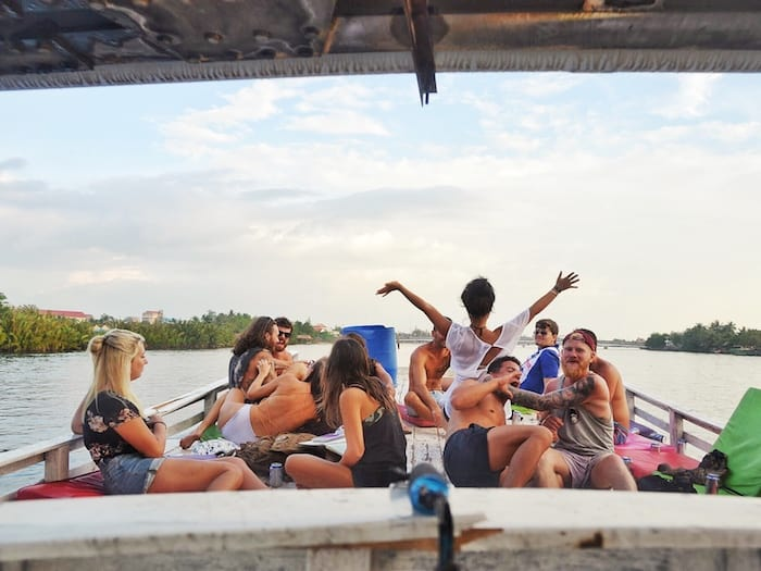 Kampot River Cruise under the bridge