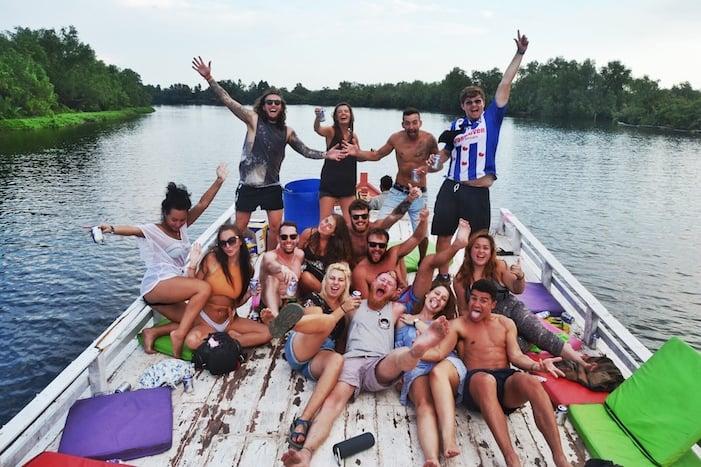 Kampot River Cruise group shot 2018