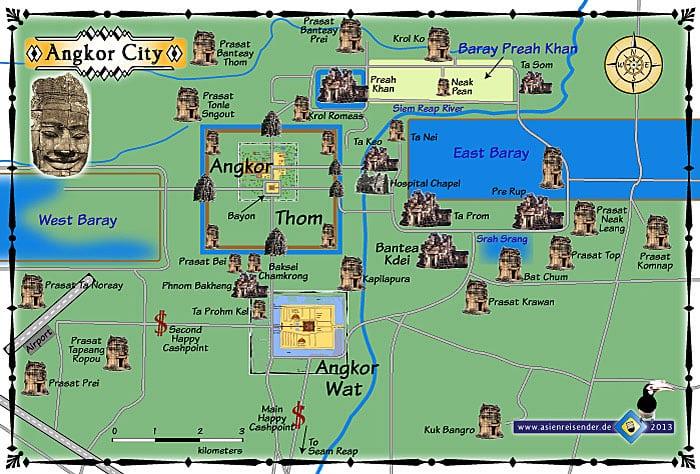 Angkor Wat Map Angkor Wat Map   Mad Monkey Hostels Angkor Wat Map