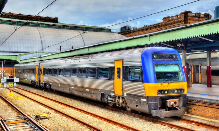 Train from Coogee to Sydney CBD