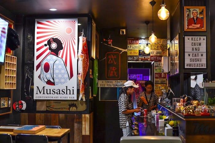 Musashi Sushi Bar in Chiang Mai, Thailand