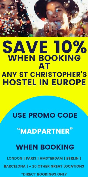 Save 10% at St Christophers Hostels