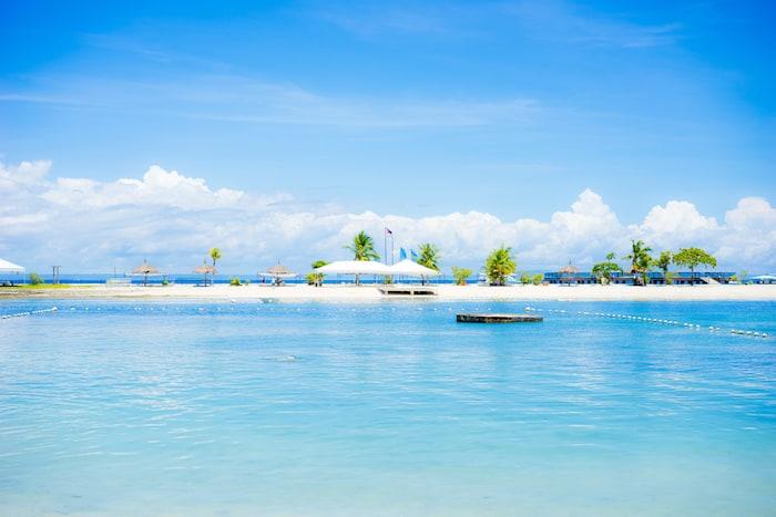 The beautiful blue sea of Cebu.