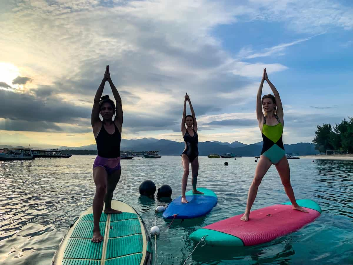 Sunrise SUP Yoga Gili Trawangan