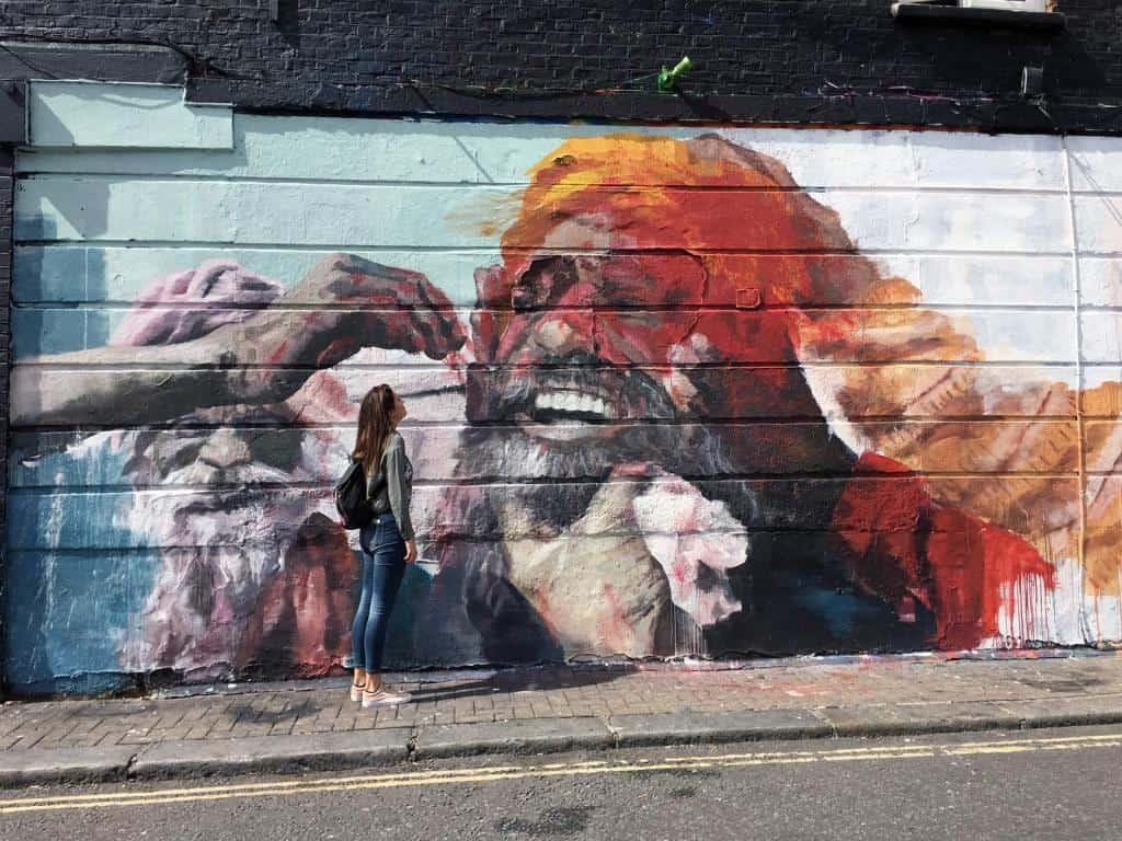 Street art in Camden Town. Photo by Shereen Sagoo