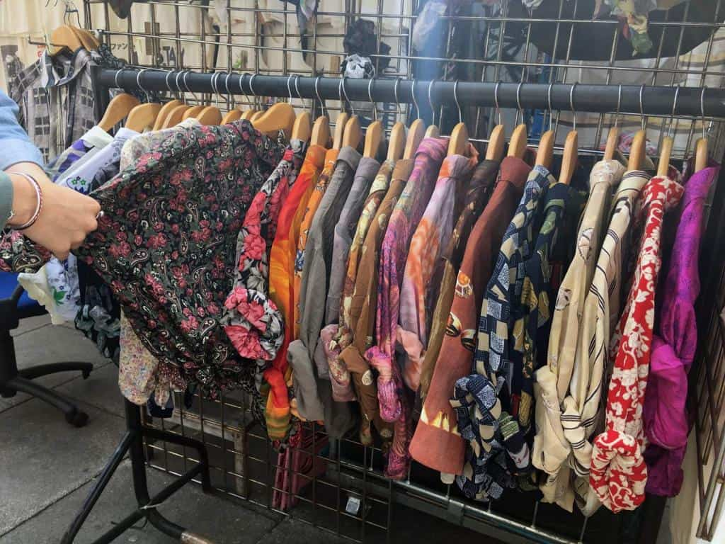 Vintage shirts in Camden Market. Photo by Shereen Sagoo
