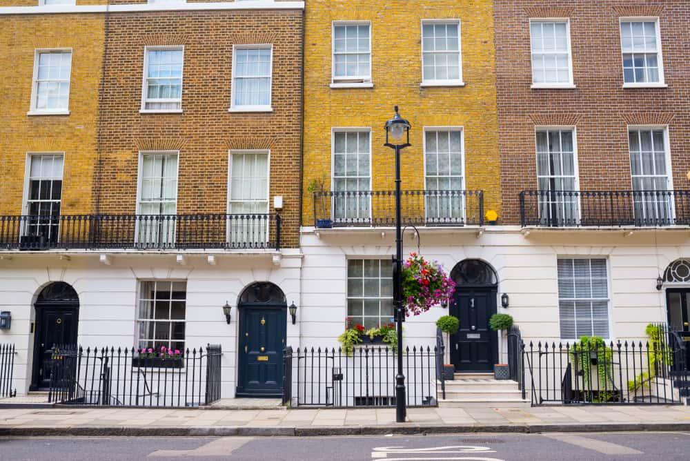 Georgian residential townhouses of Marylebone © Shutterstock